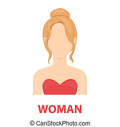 Blonde icon cartoon Single avatar,peaople icon from the big...