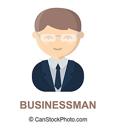 Business man cartoon icon Illustration for web and mobile...