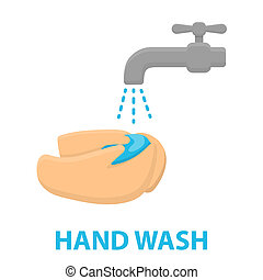 Washing hands icon cartoon Single sick icon from the big...