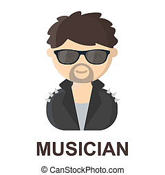 Rock star cartoon icon Illustration for web and mobile...