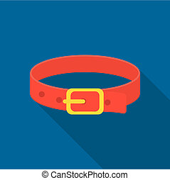 Pet collar icon of rastr illustration for web and mobile