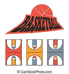 Sports Game Court Drawing - Basketball Game Court Drawing...