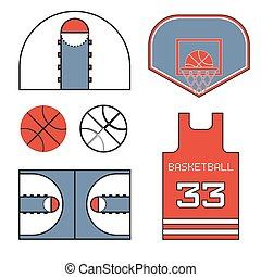Basketball red items