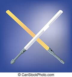 Light Beam Laser Swords - Laser Light Swords Crossed One...