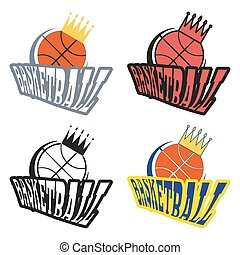 Basketball Badges with Crowns