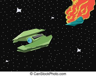 Spacecraft Space Blast