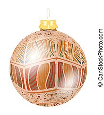 Vector Christmas decoration made from tribal shapes. Original circle element. Simple