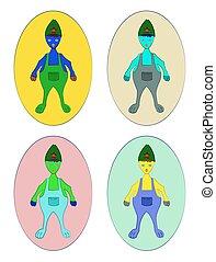 Fantasy Character vector Illustration set - Fantasy...