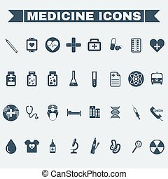 Healthcare Medical Vector Icons Set