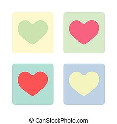 Happy Valentine's Day Greeting Card. Big Colorful Hearts on...
