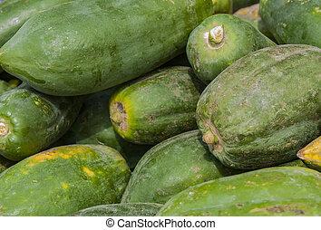 Guavas - Fresh green guavas on the market