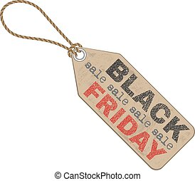 black friday sales tag, isolated illustration on white...