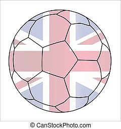 Union Jack Soccer Football - A typical soccer football...