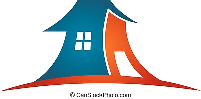 Abstract Building symbol design for business