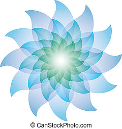 Beautiful Blue Lotus Flower Icon. Vector EPS10.