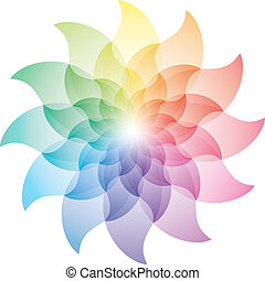 Beautiful Lotus Flower Color Wheel Icon. Vector EPS10.