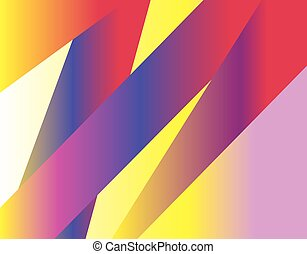 Gradient abstract lines