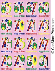 Happy Birthday Vector Card Set - Happy Birthday Card Set....