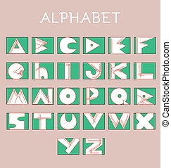 Geometrical Sketchy Alphabet Letters - Sketchy Alphabet...