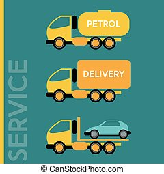 Delivery Transportation Cars - Delivery Cars. Petrol...
