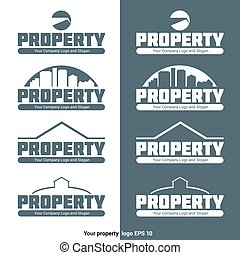 Property Agency Logo Vector Template - Property Agency...