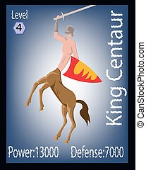 Players Card Illustration - King Centaur with Sword and...