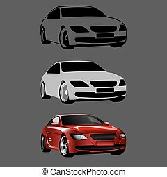 Drawing a 3D Car in Steps Vector Tutorial - Drawing a 3D Car...