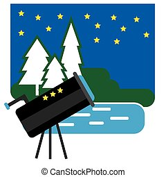 Astronomy Camping with Telescope - Drive into the Forest On...