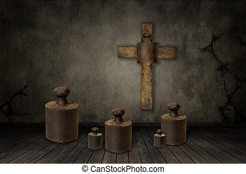 Weights under the cross