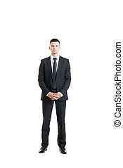Young and confident business man isolated on white - Young...