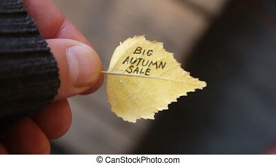 Big Autumn sale. - Big Autumn sale, inscription on the...