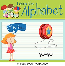 Flashcard letter Y is for yo-yo
