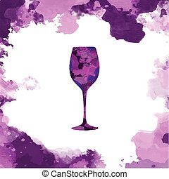 Glass of Red Wine Flyer Illustration - Glass of Red Wine on...