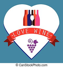 Wine Bottles of Different Shapes - Colorful Bottles of Wine...