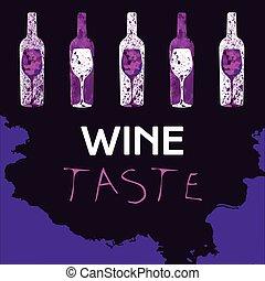 Wine Taste Banner Vector - Wine Taste Banner Illustration...