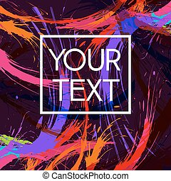 Your Text Abstract Illustration - Abstract Colorful...