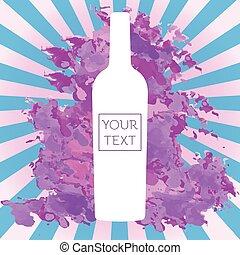 White Glass Bottle of Wine Flyer Illustration - White Glass...