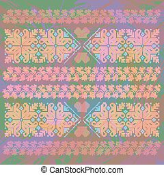 Oriental ornaments on abstract background - Oriental...