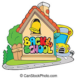 Back to school theme 2 - vector illustration