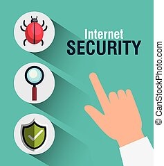 internet security design - virus alert internet security...