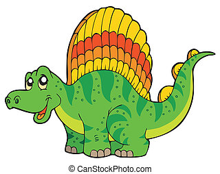 Cartoon small dinosaur - vector illustration.