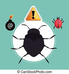 internet security design - computer virus alert security...