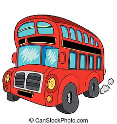 Doubledecker bus on white background - vector illustration