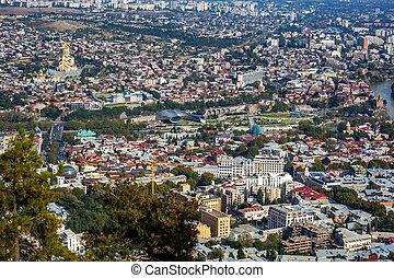panoramique,  tbilisi, Géorgie, République, vue