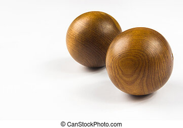 pair of wooden Chinese balls Baoding - pair of wooden...
