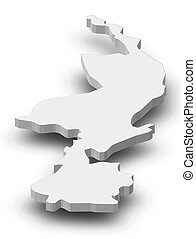 Map - Limburg (Netherlands) - 3D-Illustration - Map of...