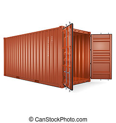 3D rendering container - 3D rendering the ship a container...