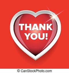 Thank You card vector heart