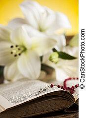bible, eucharistie, sacrement, de, Communion, fond