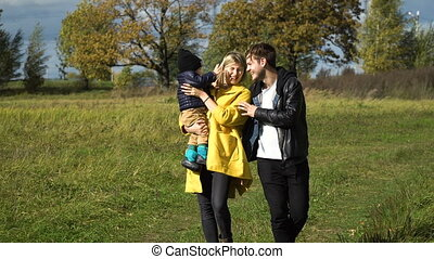 Young family in the park.